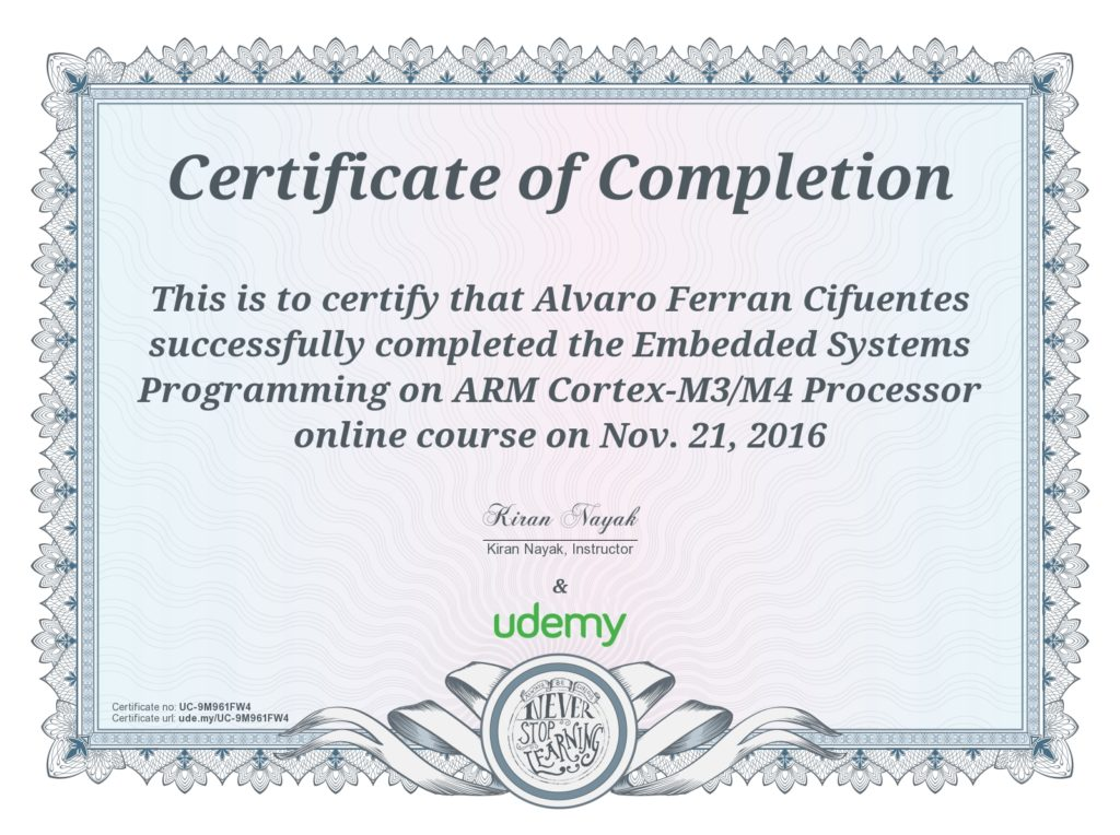 Embedded Systems Programming on ARM CortexM...