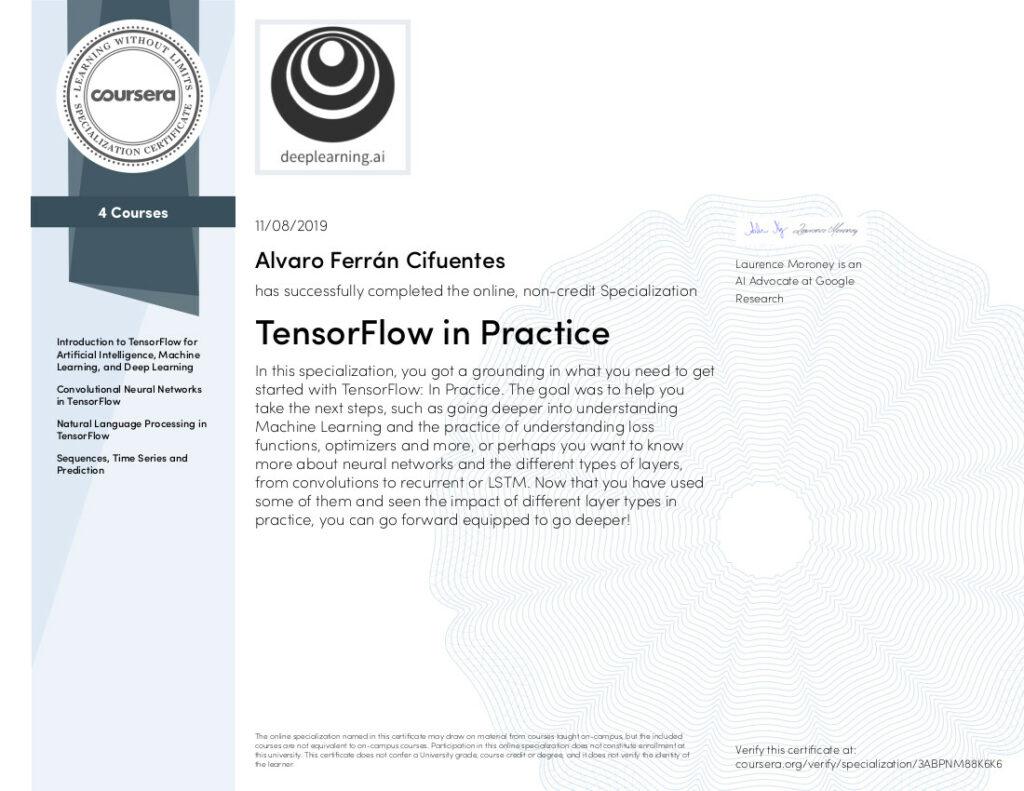 TensorFlow in Practice Specialization